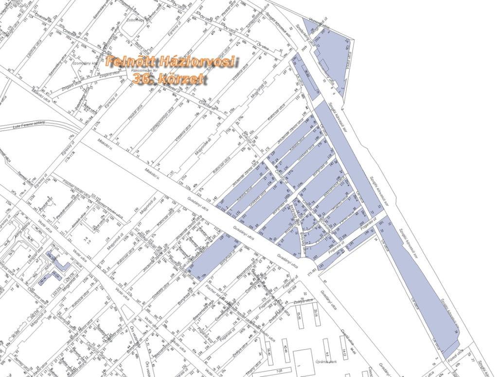 Kaprinai körzet térkép